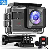 Victure Action Cam 4K 16MP Kamera 40M wasserdichte Unterwasserkamera Digitale WiFi actioncam mit EIS...