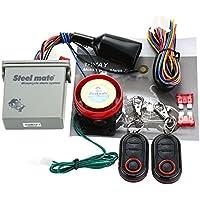 Steelmate 986E - Sistema de Alarma 1 Via Arranque de Motor a Distancia Inmovilización para Motocicleta con Mini Transmisor