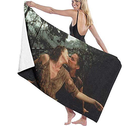 Tras el corazón verde de bricolaje tela de la impresión toalla de baño de secado rápido de poliéster blanco dljyy