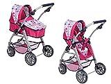 Haberkorn Puppenwagen 2 in 1 Buggy und Wagen in pink