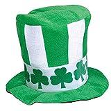 ANLW Sombrero de Terciopelo irlandés Top Hat St Patrick día Partido Sombrero trébol Sombrero Lucky Show Top Hat