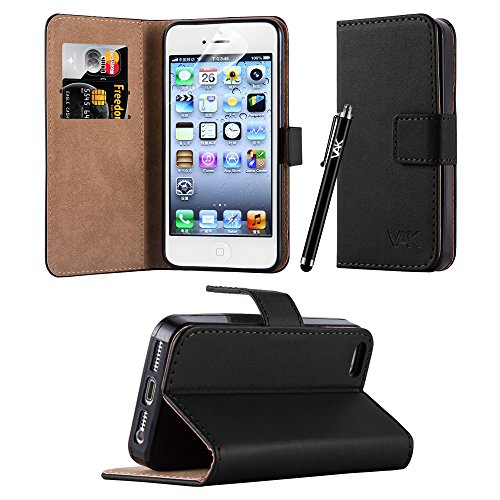 iPhone 5 / 5S / SE - New Flip Wallet Book [Stand View] Premium Leather Case...