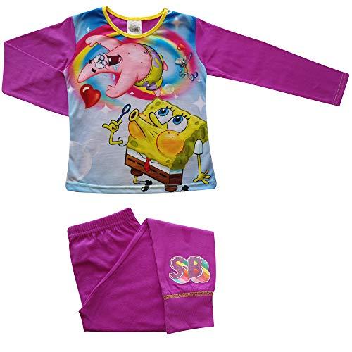 TDP Mädchen Kinder Charakter Spongebob Pyjamas Lang - Spongebob, 116