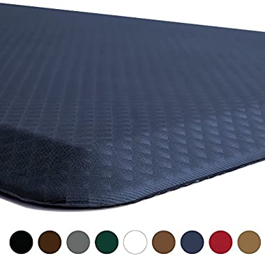 Kangaroo Brands Original 3/4  Anti Fatigue Comfort Standing Mat Kitchen Rug, Phthalate Free, Non-Toxic, Waterproof, Ergonomically Engineered Floor Pad, Rugs for Office Stand Up Desk, 32x20 (Navy)