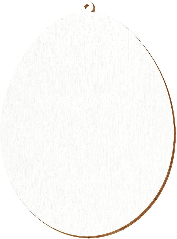 Weiße Holz Ostereier - 2-10cm Baum- Strauchbehang, Pack mit 100 Stück, Größe 9cm B07NFDHBNB  | Mama kaufte ein bequemes, Baby ist glücklich