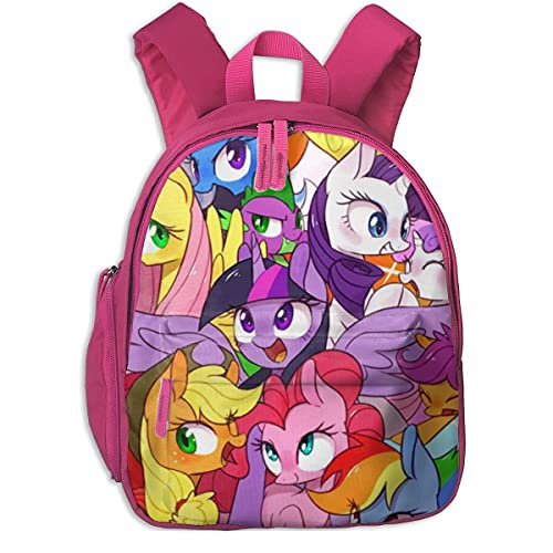 My Little Backpack Pony Friendship is Magic Mochila para niños Moda Mochilas Escolares para niños Mochila para niños pequeños para niños niñas, Rosa, Talla única
