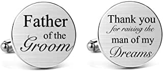 MUEEU Father of The Bride Cufflink Engraved I Will Always Be Your Little Girl Dad Father Tie Bar