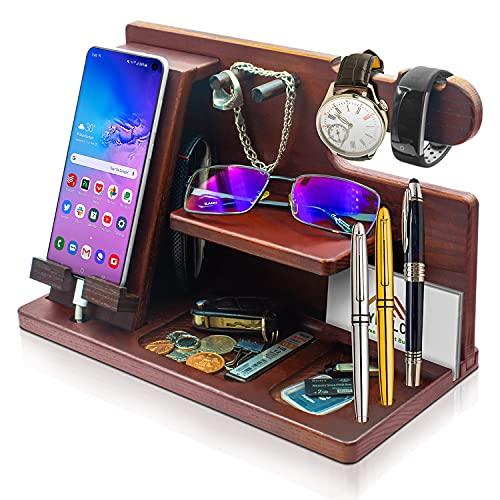Wooden Phone Docking Station - Stylish Mens...
