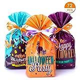 Materiale: plastica opp. Dimensioni: 20 cm x 14 cm. Le corde: 10 metri, arancione e viola. I sacchetti di caramelle da 72 pezzi per Halloween includono 3 modelli: arancione, blu, viola. 24 pezzi per ogni colore. Riempi questi sacchetti con caramelle,...