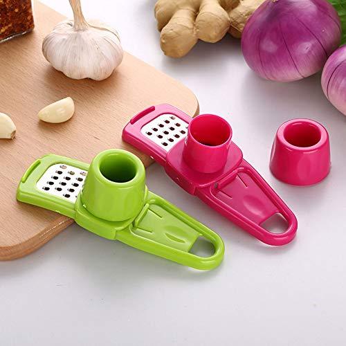Hieefi Prensa De Ajo, Ajo Rallador Multi Funcional Jengibre Ajo Ajo Grinder Mini Molino De Cuchillas Cocina La Herramienta para Los Accesorios De Cocina Color Al Azar