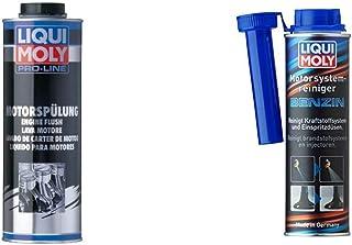 LIQUI MOLY 2425 Pro-Line Motorspülung, 1 L & 5129 Motor System Reiniger Benzin, 300 ml
