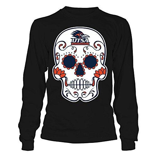 FanPrint UTSA Roadrunners T-Shirt - Sugar Skull - Longsleeve Tee/Black/L