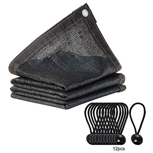 Happyshop 18 70% Sonnenblock-Tuch Gewächshaus-Schattennetz mit dunklem Rand und Aluminiumösen für Gartenpflanzen 24,6 x 24,9 cm