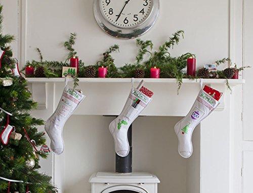 Botas de Navidad en algodón, para colorear (Puis lavadora para ...