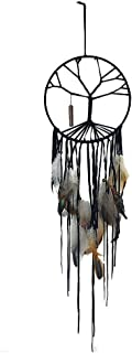Yeyo The Tree of Life Dream Catcher Handmade Beaded Feather Natural Stone Hanging Dram Catcher Home Decor