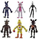 6 Pack fnaf cake toppers at Freddy's Action Figures Toys for the Five Nights party supplies