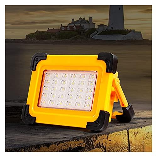 BDSHL Foco Solar Exterior Luz De Trabajo De Emergencia LED IP65 A Prueba De Agua Carga USB Carga Solar Batería Integrada Aplicar para Iluminación Cámping Exterior Pescar