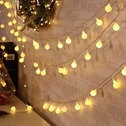 Foto di Qedertek Luci Natalizie 13M 100 LED Catene Luminose con Adattatore EU di Natale Luci Decorazione Interni Illuminazione di Natale Luci Addobbi Natalizie per Albero di Natale Terrazza (Bianca Calda)