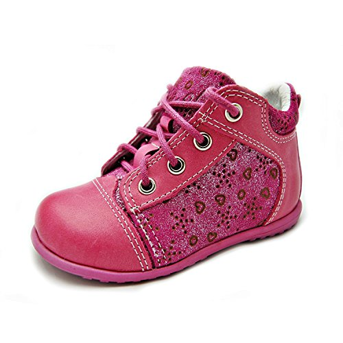 EMEL Lauflernschuhe Kinderschuhe für Mädchen pink glänzend 2352-1 Handmade (22)