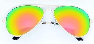 SGJFZD Mens Vintage Retro Sunglasses Polarized Light Colorful Mirror Metal Leisure Seaside Sunscreen UV400 (Color : Purple)