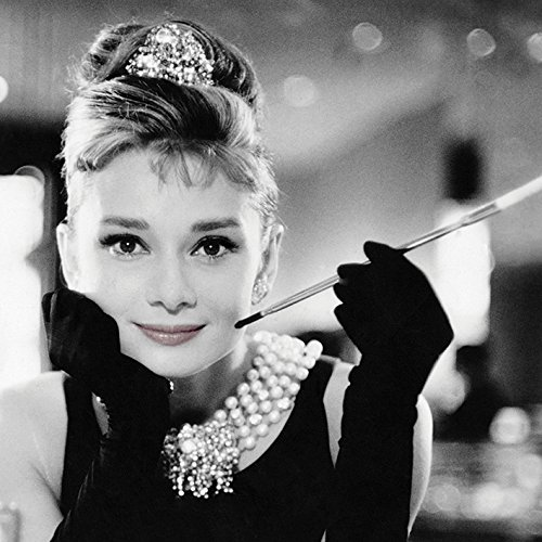Audrey Hepburn Leinwanddruck, Polyester, Mehrfarbig, 40 x 40 cm
