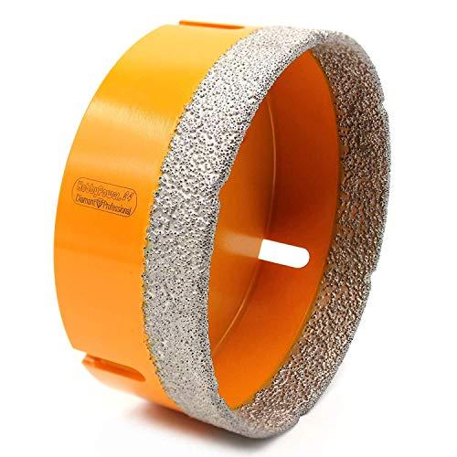 Premium Diamantbohrer 100mm mit M14 Gewinde für Winkelschleifer Flex oder mit Adapter auf 6-Kant für Bohrmaschinen oder Akkuschrauber, geeignet für folgende Materialien wie Granit oder Marmor etc.