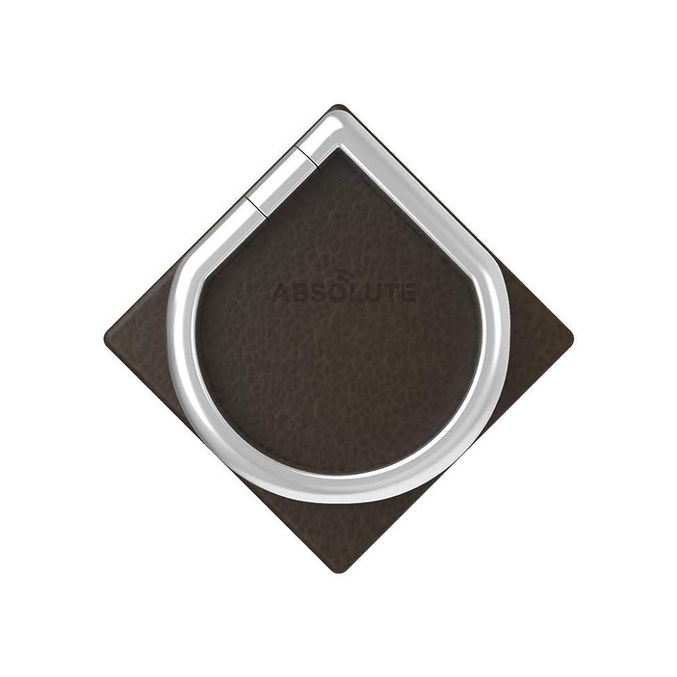 同盟守るスキャンダラス【国内正規品】ABSOLUTE?JUST RING/True Leatherシリーズ Signature スマートフォンリング (ダークブラウン)