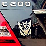 4pc/Car 3D Car Stickers Transformer Badge Decepticon Emblem Tail Decal Cool Autobots Logo Car Styling Motorcycle Car Accessories,4Decepticon