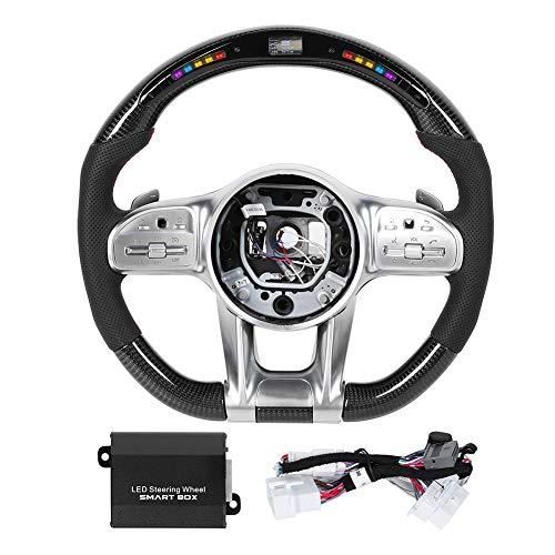 Reminnbor Volante de Carreras | para Am-G Performance Carbon Fiber LED Race Pantalla Digital Volante Apto para M-ercedes-Benz A/B/C/E/S/G/GLC/GLE Clase C63 E63 S63 2010+