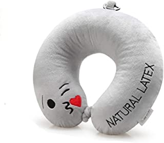 Latex U-Pillow Portable Travel Neck Pillow Flying Pillow Protection Shoulder Neck MJZDD (Color : E)