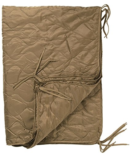 Mil-Tec Military Quilted Poncho Liner Hiking Blanket Camping Sleeping Bag Ripstop Coyote by