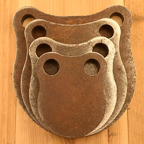 1/2' Thick AR500 Steel Shooting Targets 3' 4' 5' 6' Gong Set