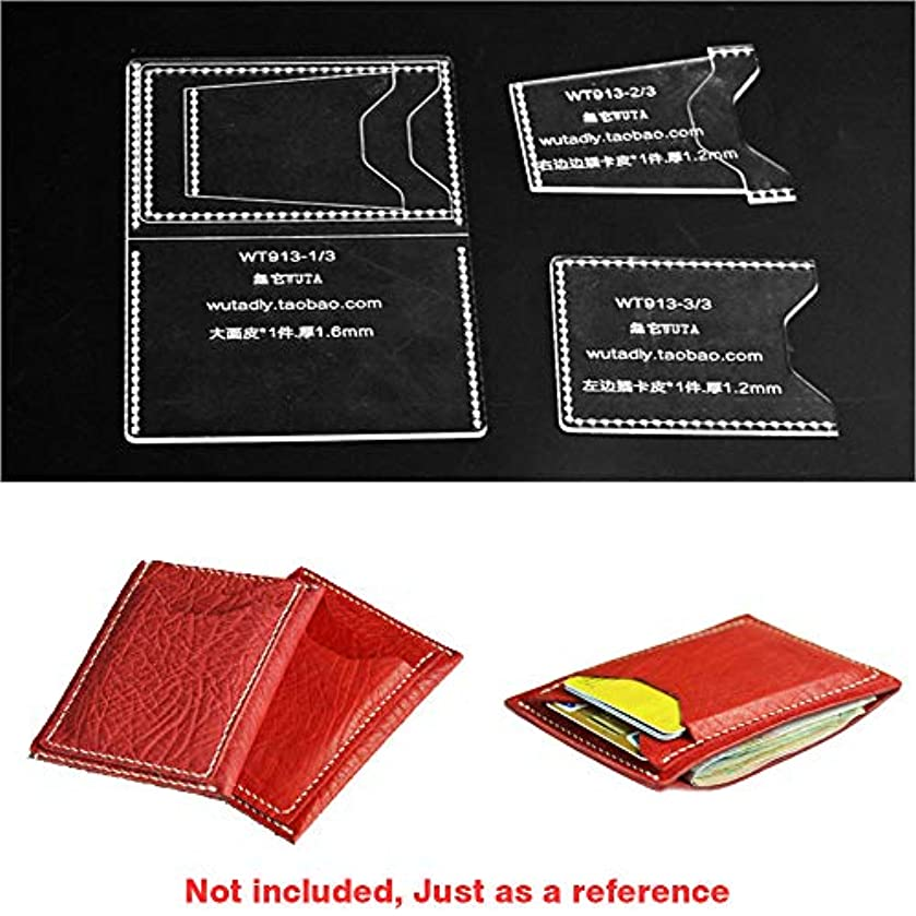 WUTA Vertical Section Mini Card Holder Acrylic Template Leather Pattern Set Craft Cutting Tool Model for DIY Small Card Case WT913