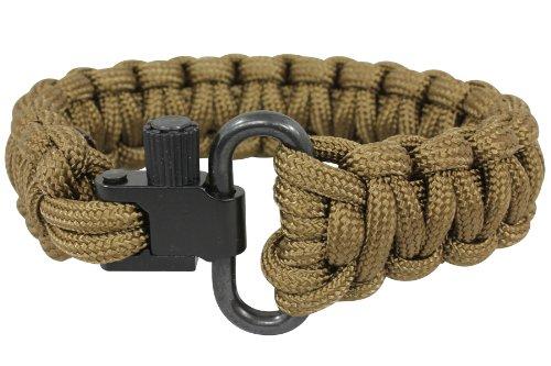 Bison Designs Sling Lock 550 Paracord Bracelet, Coyote, Small
