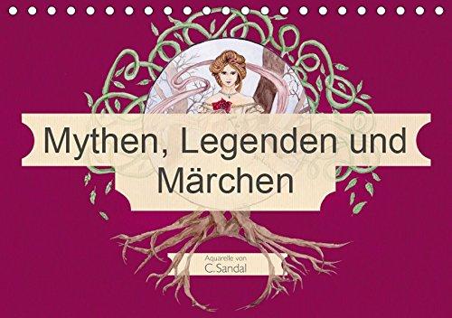 Mythen, Legenden und Märchen (Tischkalender 2019 DIN A5 quer): Jugendstil inspirierte Aquarelle (Monatskalender, 14 Seiten )