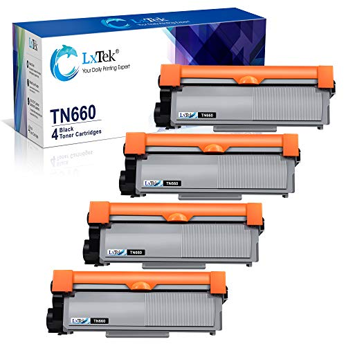 LxTek Compatible Toner Cartridge Replacement for Brother TN660 TN630 TN-660 TN-630 High Yield to use with HL-L2300D HL-L2320D HL-L2340DW HL-L2360DW MFC-L2720DW MFC-L2740DW DCP-L2540DW (Black, 4 Pack)