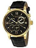 Calvaneo 1583 Orologio da polso da uomo Valencia II oro, analogico, automatico, in pelle, nero 107934