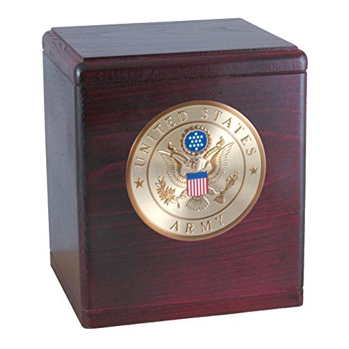 Wood Cremation Urn - Rosewood Freedom Military (Army)