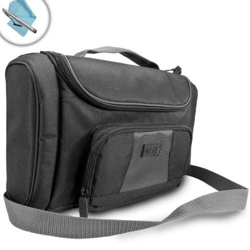 USA Gear S7 Tablet Bag Compatible with NVIDIA Shield K1 - Holds Tablet, Wireless Controller, Chargers, and More Accessories with Customizable Compartments and Adjustable Shoulder Strap