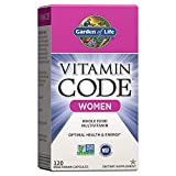 Garden of Life Multivitamin for Women, Vitamin Code Women's Multi - 120 Capsules, Whole Food Womens Multi, Vitamins, Iron, Folate not Folic Acid & Probiotics for Womens Energy, Vegetarian Supplements