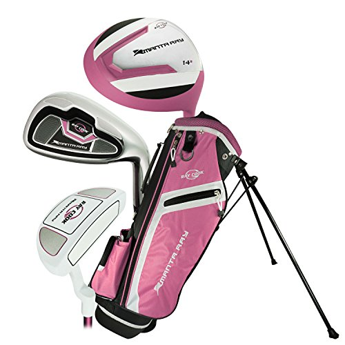 Ray Cook Golf Manta Ray 5 Piece Girls Junior Set with Bag (Ages 3-5) Pink, Multi