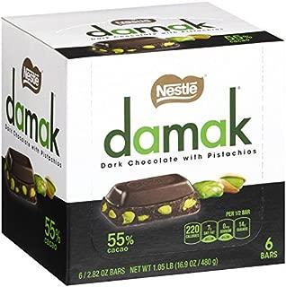 NESTLE Damak Dark Chocolate with Pistachios, 2.82 Ounce (6 Bars)