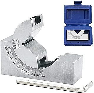 Preamer AP25 Adjustable Micro Angle Gauge High Precision Angle V Block 0-60° for Milling Lathe