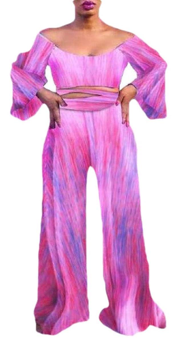 箱生きる装備する女性2ピース衣装 フローラルプリント クロップ トップワイドレッグ パンツセット