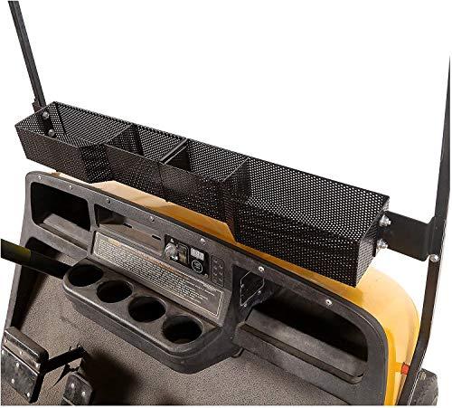 10L0L Cesta interior delantera para carrito de golf EZGO TXT y RXV, caja de almacenamiento para tablero de metal, bandeja de malla