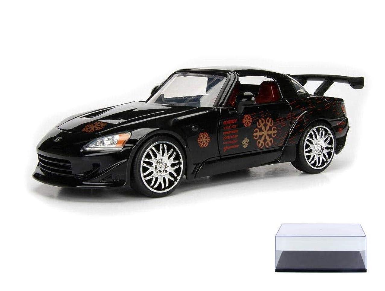Diecast Car & Display Case Package - 2000 Honda S2000 (Johnny Tran), Fast & Furious - Jada 99557 - 1/24 Scale Diecast Model Toy Car w/Display Case