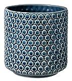 Bloomingville Vaso da fiori, color petrolio, ceramica