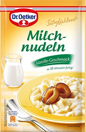 Dr. Oetker Süße Mahlzeit Milchnudeln Vanille, 8er Pack (8 x 116 g Packung)