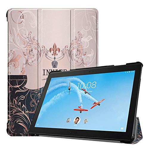 USPANDI Owl Butterfly Flower Dandelion Eiffel Tower Design Tablet Stand Case for Lenovo Tab P10 TB-X705F/X705L 10.1 inch Mobile Phone Case Cover (Pattern : 8)