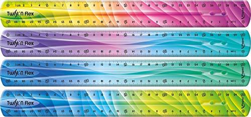 Maped - flexibles Lineal TWIST´n FLEX DECOR, 30 cm - Das Original! Mit neuem Farb-Verlauf - verschiedene Farb-Verläufe